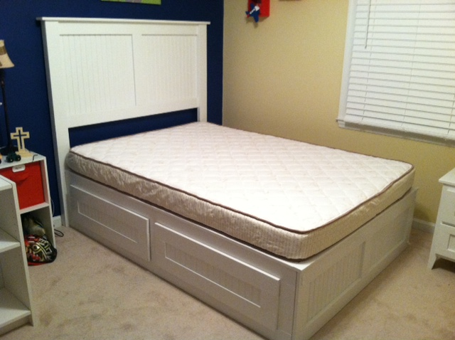 full captains bed with 4 large drawers 540 optional headboard 180 total 720