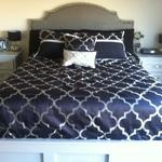 Queen Captains Bed $699 Add $259 for Queen Headboard Padded Headboard shown in photo is not an Option.